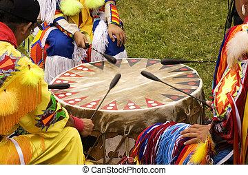 pow にうわーっ, indian, ドラム