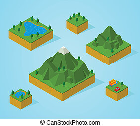 pre, 等大, アセンプリ, map-mountain