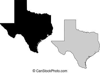 projection., map., 黒, white., mercator, テキサス