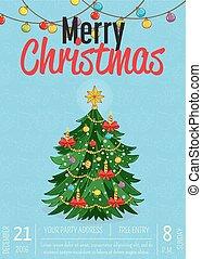 promo, ポスター, 陽気, パーティー, 休日, クリスマス