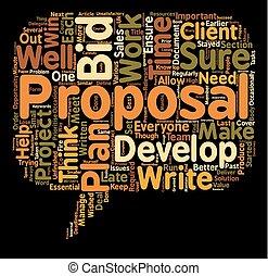propsal, 勝利, テキスト, 背景, あなた, あなたの, 計画, 概念, wordcloud