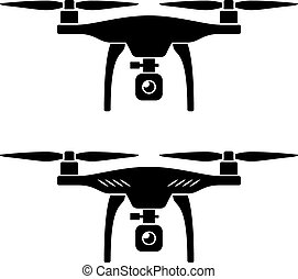 quadcopter, ベクトル, rc, 無人機