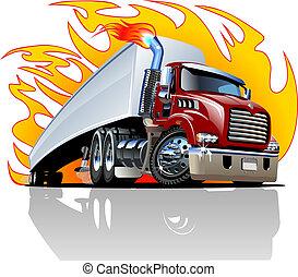 repaint, 半, one-click, ベクトル, truck., 漫画