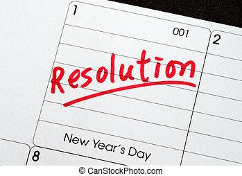 resolutions, 新年