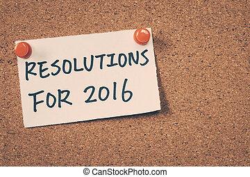 resolutions, 2016