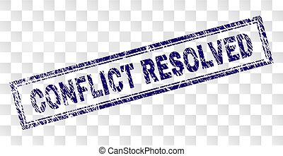 resolved, 切手, グランジ, 対立, 長方形