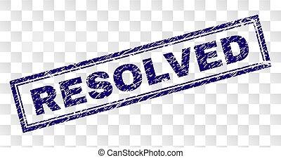 resolved, 切手, グランジ, 長方形