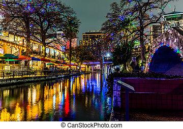 riverwalk, テキサス, antonio, san, night.