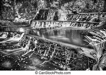 riverwalk, 滝, san, 滝のように流れ落ちる, antonio