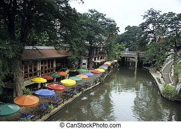 riverwalk, antonio, san, 朝