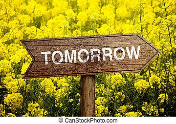 roadsign, 明日