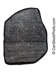 rosetta, deciphering, エジプト人, 象形文字, キー, 石