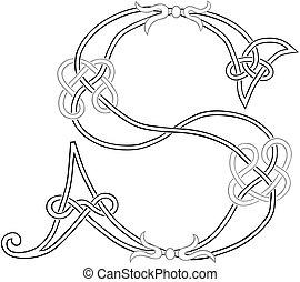 s, 資本, ケルト, 手紙, knot-work