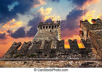 scaliger, 城, 日没, 中世