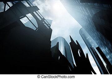 scape, 前兆である, 都市