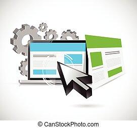 seo, ウェブサイト, イラスト, 敏感