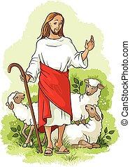 shepherd., 主題, イースター, イエス・キリスト