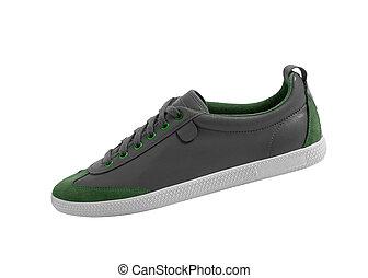 shoes., スポーツ, 隔離された, white.