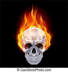 skull., fiery