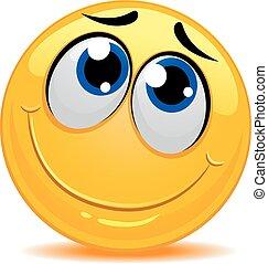 smiley, 内気, 感じ, emoticon