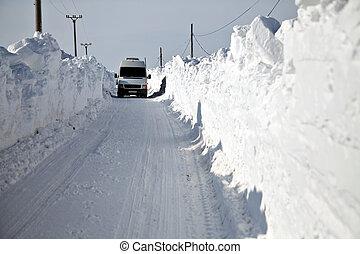 snow-blocked, 道