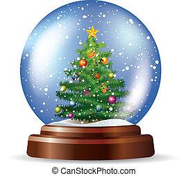 snowglobe, 木, クリスマス