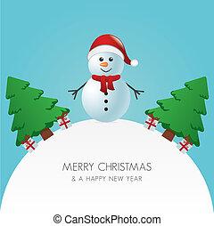 snowman 帽子, 木, クリスマスの ギフト