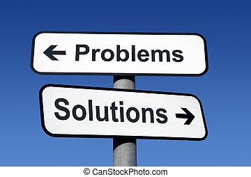 solutions., 道標, 問題, 指すこと