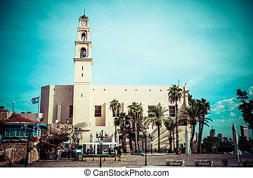 st. 。, aviv, franciscan, 教会, ∥電話番号∥, ピーター, 部分, israel., jaffa