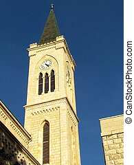st. 。, franciscan, タワー, 教会, jaffa, アンソニー, 2011