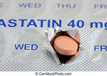 statin, タブレット, 毎日, ドーズ