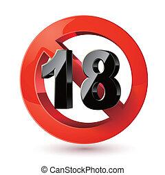 sticker., 成人, 印。, xxx, 禁止, 印, 内容, ∥たった∥, 18, 限界, 下に, icon., 年齢