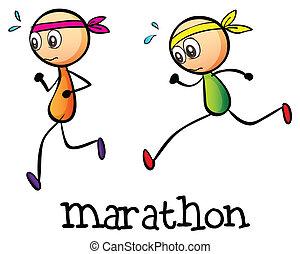stickmen, 2, マラソン, ∥間に∥