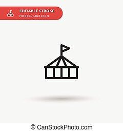 stroke., 色, icon., プロジェクト, editable, モビール, デザイン, 現代, 網, シンボル, 完全, あなたの, pictogram, アイコン, イラスト, ベクトル, 単純である, テンプレート, サーカス, element., ビジネス, ui