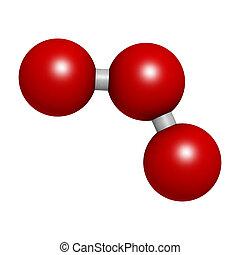 structure., 分子, o3), 化学物質, オゾン, (trioxygen