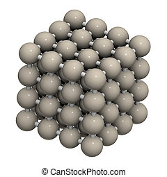 structure., 水晶, 金属, (fe, 鉄, ferrite)