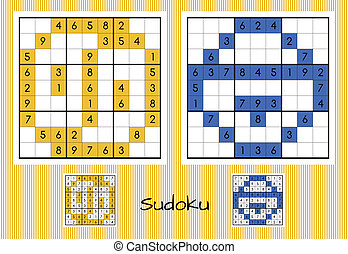 sudoku, 独特, セット