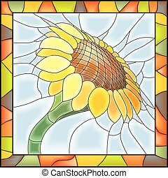 sunflower., 花, モザイク