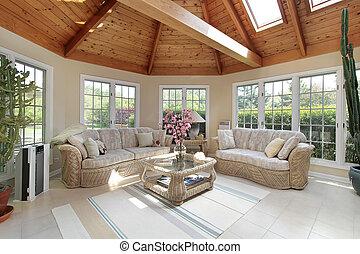 sunroom, 家, 贅沢