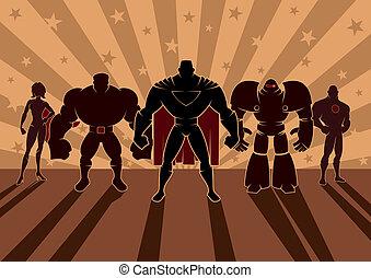 superhero, チーム
