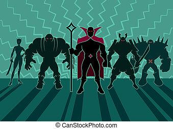 supervillain, チーム