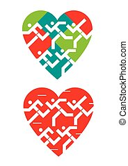 symbols., 愛, 動くこと, 私達, 心