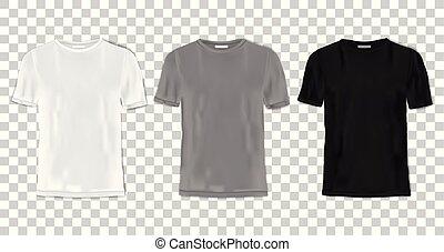 tシャツ, セット, テンプレート