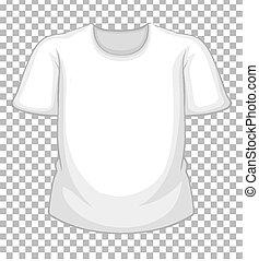 tシャツ, 背景, 透明, ブランク, 隔離された, 白