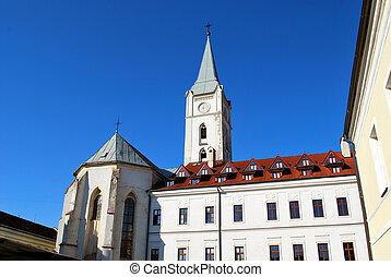 (the, franciscan, st. 。, アンソニー, padua, kosice, 教会, スロバキア, church)