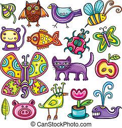 theme., 動物群, 植物相
