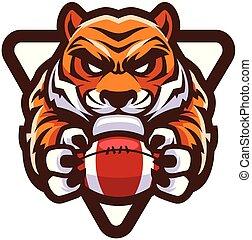 tiger, アメリカン・フットボール, マスコット