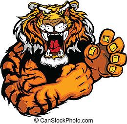 tiger, イメージ, ベクトル, マスコット