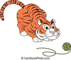 tiger, プレーボール, 糸