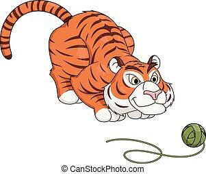 tiger, 2, プレーボール, 糸